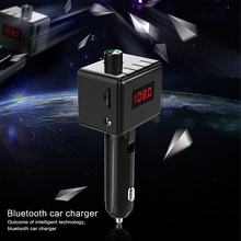 B36 inalámbrico Kit de coche Bluetooth interfaz Aux MP3 jugador giratorio Bluetooth dual puertos USB cargador de coche salida de corriente inteligente