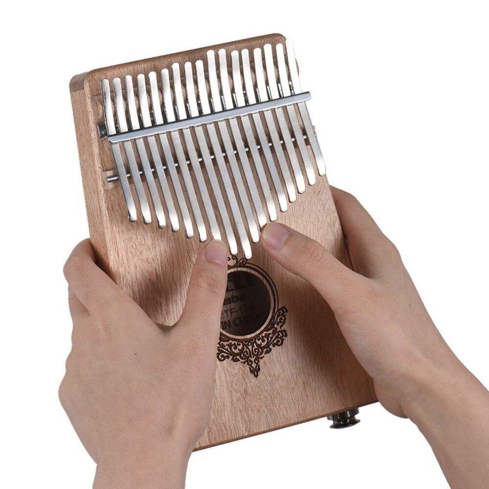 Kalimba 17 touches pouce Piano débutants sac de soutien amical et clavier Instrument de musique