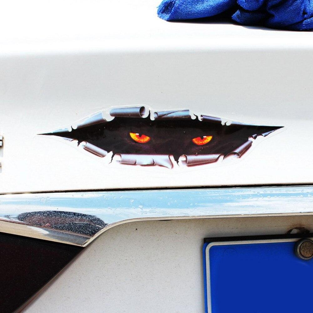 Тип похожая на настоящую 3D автомобиля Стикеры творческий изменение Стикеры глаза подглядывающий Монстр водонепроницаемые наклейки для ав...