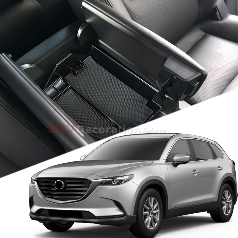 Plastic Interior Central Car Armrest Storage organizer Box Holder for Mazda CX-9 CX9 2016 2017 2018 Car-Styling Accessories buildreamen2 10 x car 5630 smd interior led bulb led kit package white map dome step trunk light for mazda cx 9 cx9 2007 2012