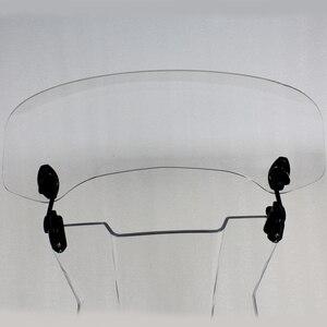 Image 5 - ユニバーサルオートバイフロントガラス延長スポイラーエア風偏向器モトライザーウインドスクリーン BMW ホンダスクーター Accesssory