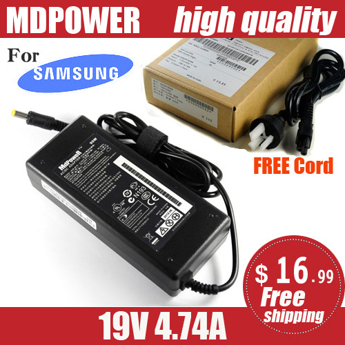 MDPOWER For <font><b>samsung</b></font> NP532U4C NP535U3C NP535U4C <font><b>NP550P5C</b></font> Notebook <font><b>laptop</b></font> power supply power AC adapter charger cord 19V 4.74A image