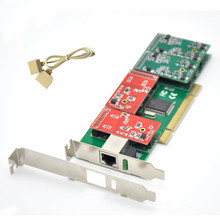 Neue Großhandel TDM410P 2U Asterisk PCI 4 FXS/FXO Analog Stimme Telefonie Karte Trixbox/Elastix/Freeswitch IP PBX