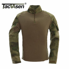 TACVASEN Neue Herbst Winter Soldier T-shirts Armee Kampf Tactical Military Männer Langarm T-Shirts Kleidung WHFE-022