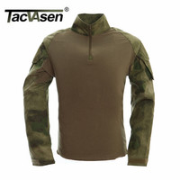 2016 New Autumn Winter Soldier T Shirts Army Combat Tactical T Shirt Military Men Long Sleeve