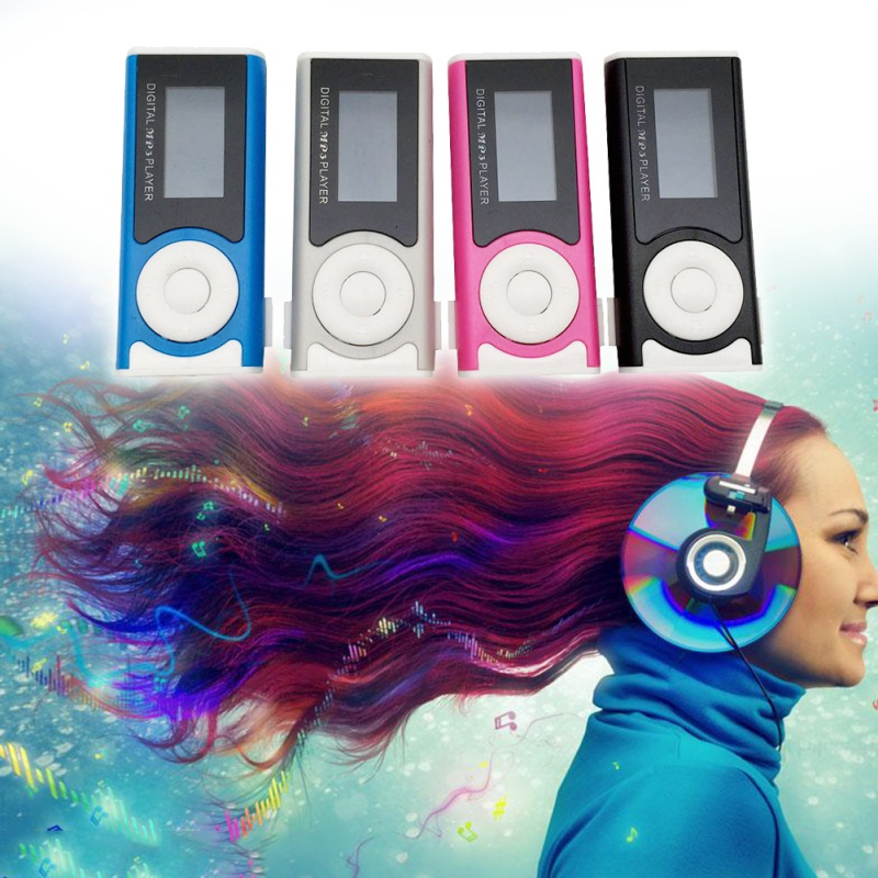 MP3 Player Media Player Support 16GB Externa Micro SD For MP3/WMA Compact And Stylish With Shiny Mini Clip LCD Screen New