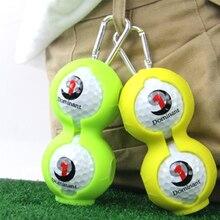 Набор силиконовых шаров для гольфа из 2 предметов, аксессуары для гольфа, силиконовый защитный чехол для гольфа, можно повесить на пояс