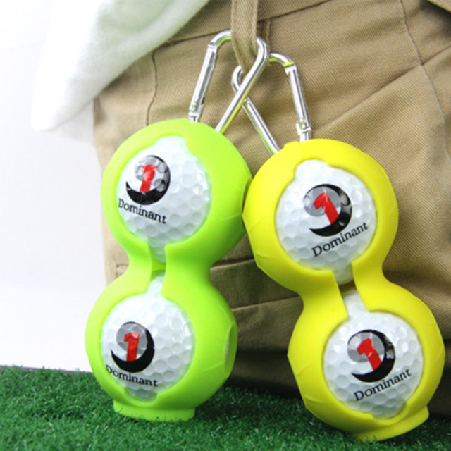 New Golf Silicone Ball Set 2 Pieces Golf Accessories Golf Silicone Protective Cover Can Be Hung On The Belt