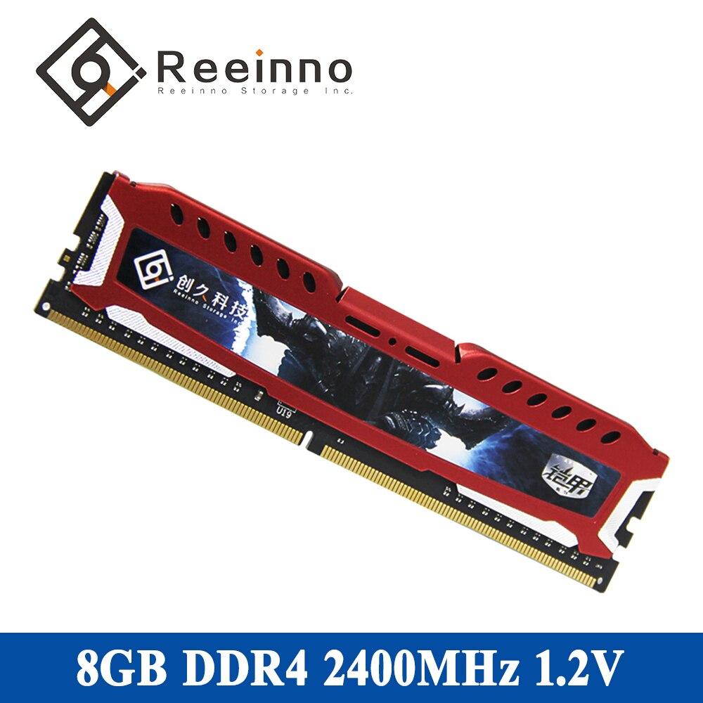 Reeinno DDR4 RAM Desktop memory 4GB/ 8GB/ 16GB 2400MHz 1.2V CL=17 17-17-17-39 PC4-19200 Interface Type 288pin single memory RAM