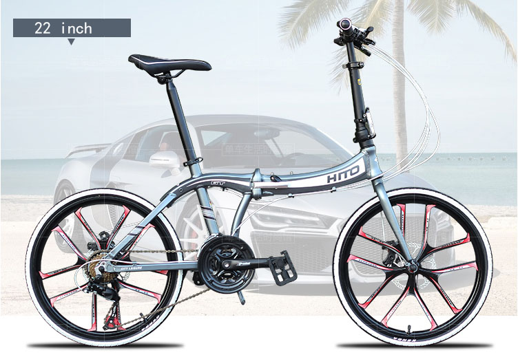 20/22 inch bike 21speed bicycle disc brake aluminum alloy bicycle mountain bike folding bike 160-185CM MTB HITO BIKE