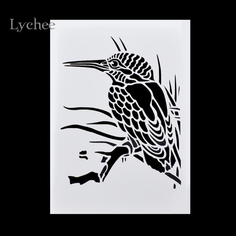 Lychee DIY Layering Stencils Masking Spray Painted