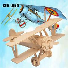A Toys For Children 3d Puzzle Diy Wooden Neubert Aircraft Kids Also Suitable Adult Game Gift Of High Quality Wood