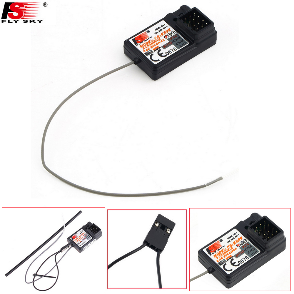 1pcs Flysky FS-GR3C FS-GR3E FS-GR3F 2.4G 3CH Receiver with Failsafe For RC Car Boat FS-GT3B FS-GT2 FS-GT3C Transmitter fs gt3b 2 4g 3ch rc system transmitter with receiver for rc car boat with lcd screen no batteries
