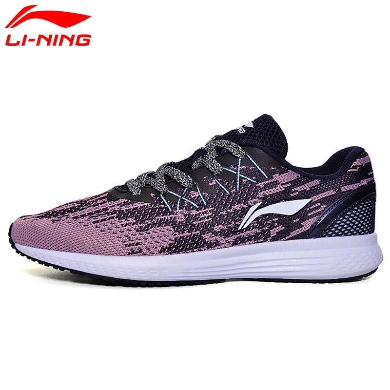 Li-ning femmes 2017 vitesse étoiles coussin chaussures de course Li Ning respirant poids léger Sports de plein air baskets ARHM082