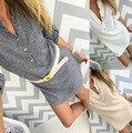 Além disso XL Tamanho inverno das Mulheres único botão breasted Longo Manga Longa camisola de malha V Pescoço Pullovers Casual Tops vestido