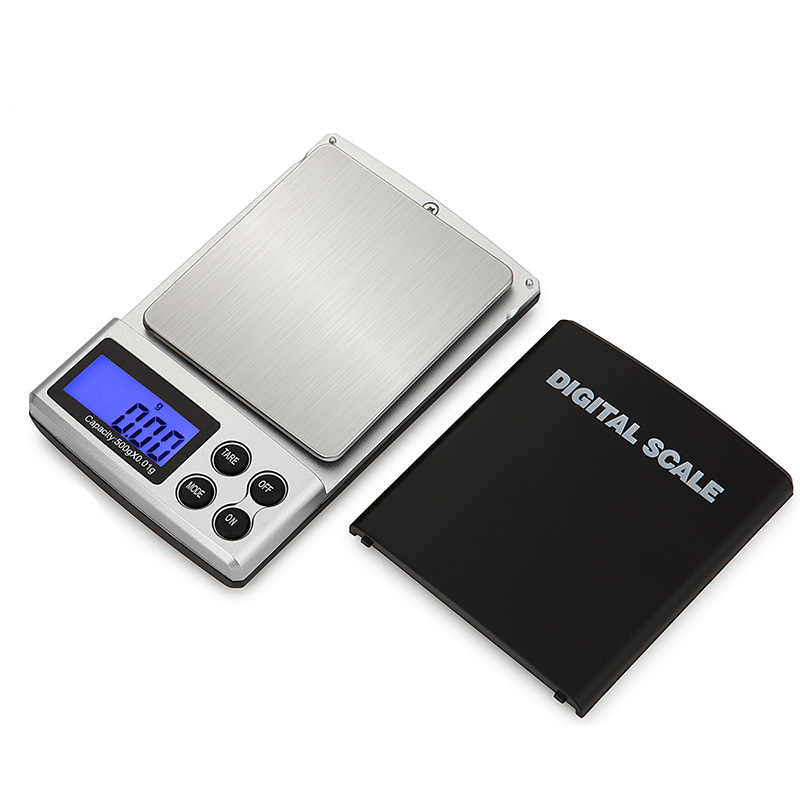 Urijk Mini Digital Scale 100/200/300/500/1000g 0.01/0.1g High Accuracy Backlight Electric Pocket Gram Weight For Jewelry