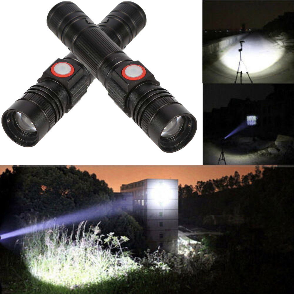 Flashlight 30000LM T6 LED Zoomable Front Light Bicycle LED Light Torch Lamp NEW
