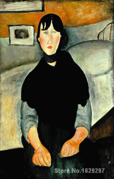 famous Amedeo Modigliani painting Young Woman of the People Hand painted High quality