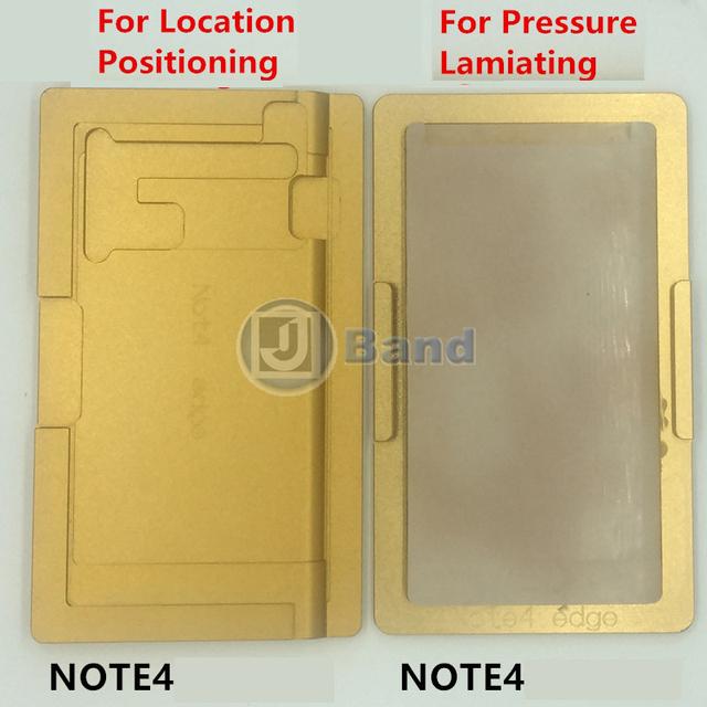 2 pcs oca laminação molde para samsung galaxy s6 edge plus s7 Nota 4 LCD borda da borda de Vidro Posicionamento e imprensa Molde Alinhamento