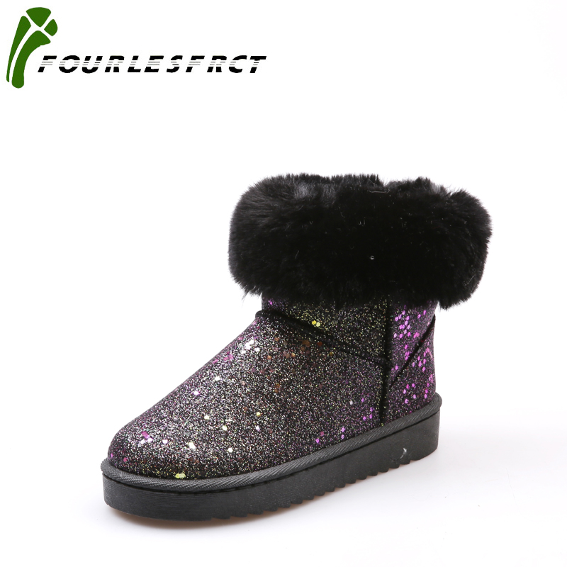2017 Snow boots Winter brand warm non-slip  women boots shoes casual cotton winter autumn boots female size36-40 Black  Gray