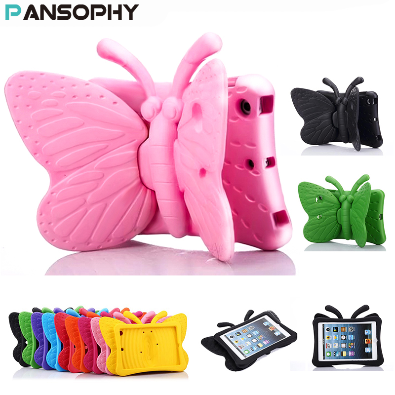 EVA Shockproof Case for iPad Mini 2 3 4 Cartoon 3D Butterfly Stand Table Case for iPad mini 4 Kids Safe Cases funda mini 2 capa