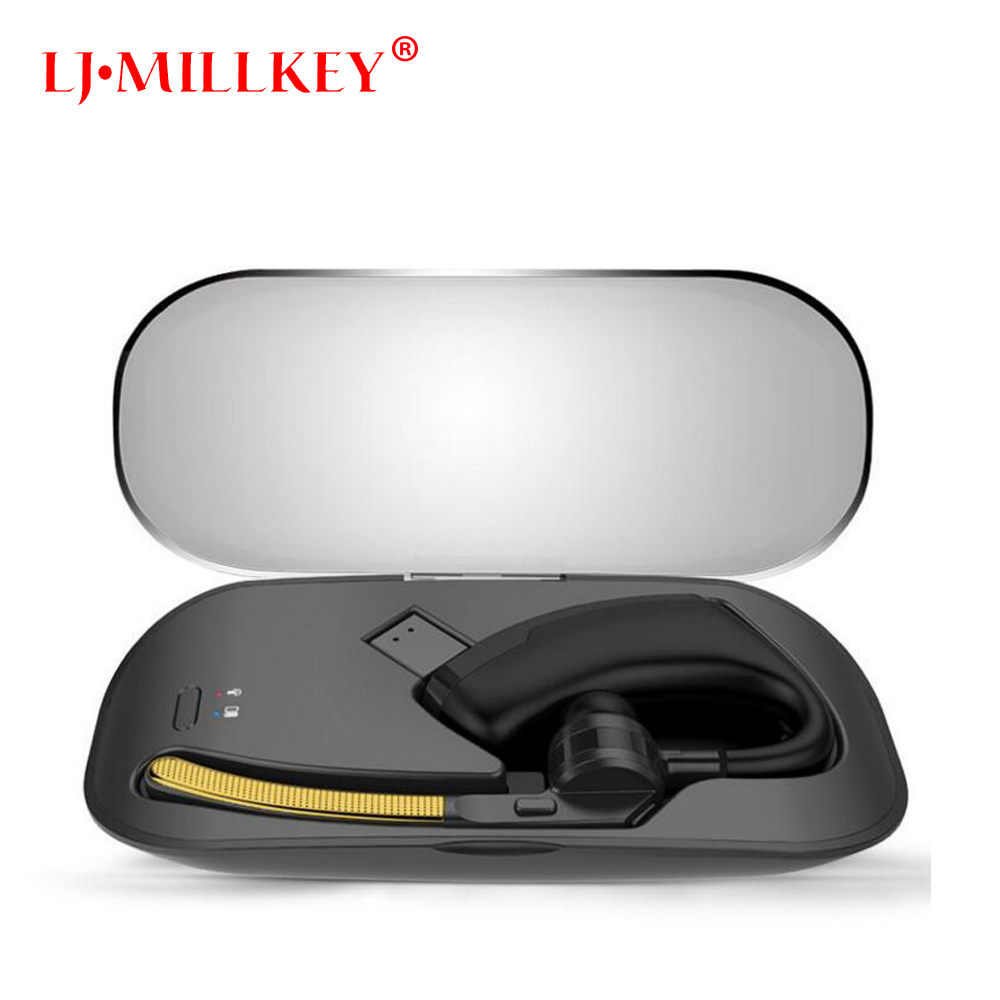 Wireless Bluetooth headset Business Hands free earphone headsets With Mic Stereo With Charging Box Mini LJ-MILLKEY YZ114 b1 stereo mini bluetooth headset wireless earphone hands free headphone with mic for iphone 7 7plus samsung note 7 lg htc laptop