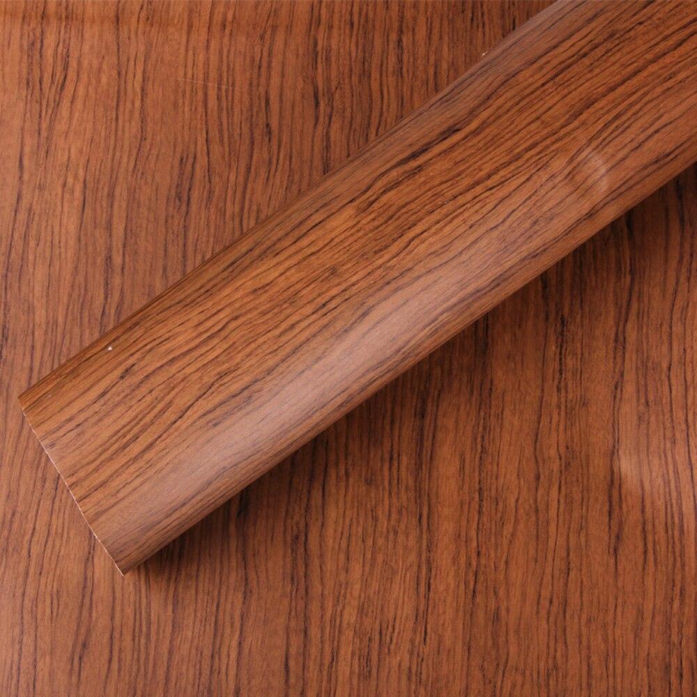 SUNICE bois grain autocollant PVC matériel bois grain vinyle pour meubles/voiture décoration autocollant feuille d'enveloppe pour voiture 124 cm X 800 cm
