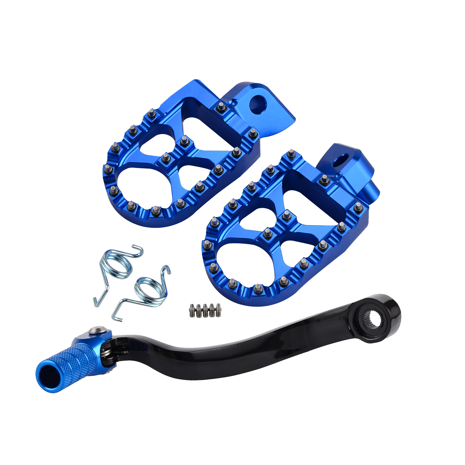 H2CNC Gear Shift Foot Lever Folding Tip Foot Pegs Rest Footpeg Pedals Rear Sets For Husqvarna TC125 FC250 FC350 2014-2015 Billet