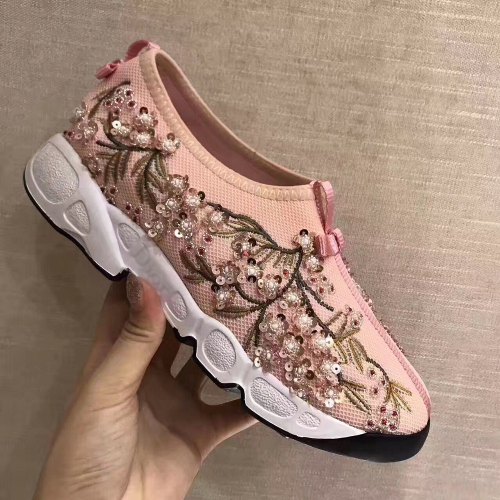 Pic Cristal Air As Mesh Femelle Perle Printemps 2019 Bout Occasionnel Femmes Rose Appartements Designer Rond Embelli Chaussures as Pic Confortable Chaîne RTY5xqn