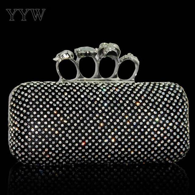 Diamonds Clutch Bags Silver...