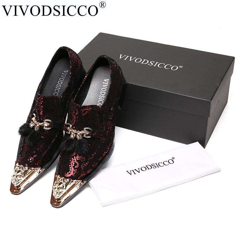 VIVODSICCO New Office Men Dress Shoes Italian Wedding Man Casual Shoes Oxfords Suit Shoes Man Flats Leather Shoes Zapatos Hombre