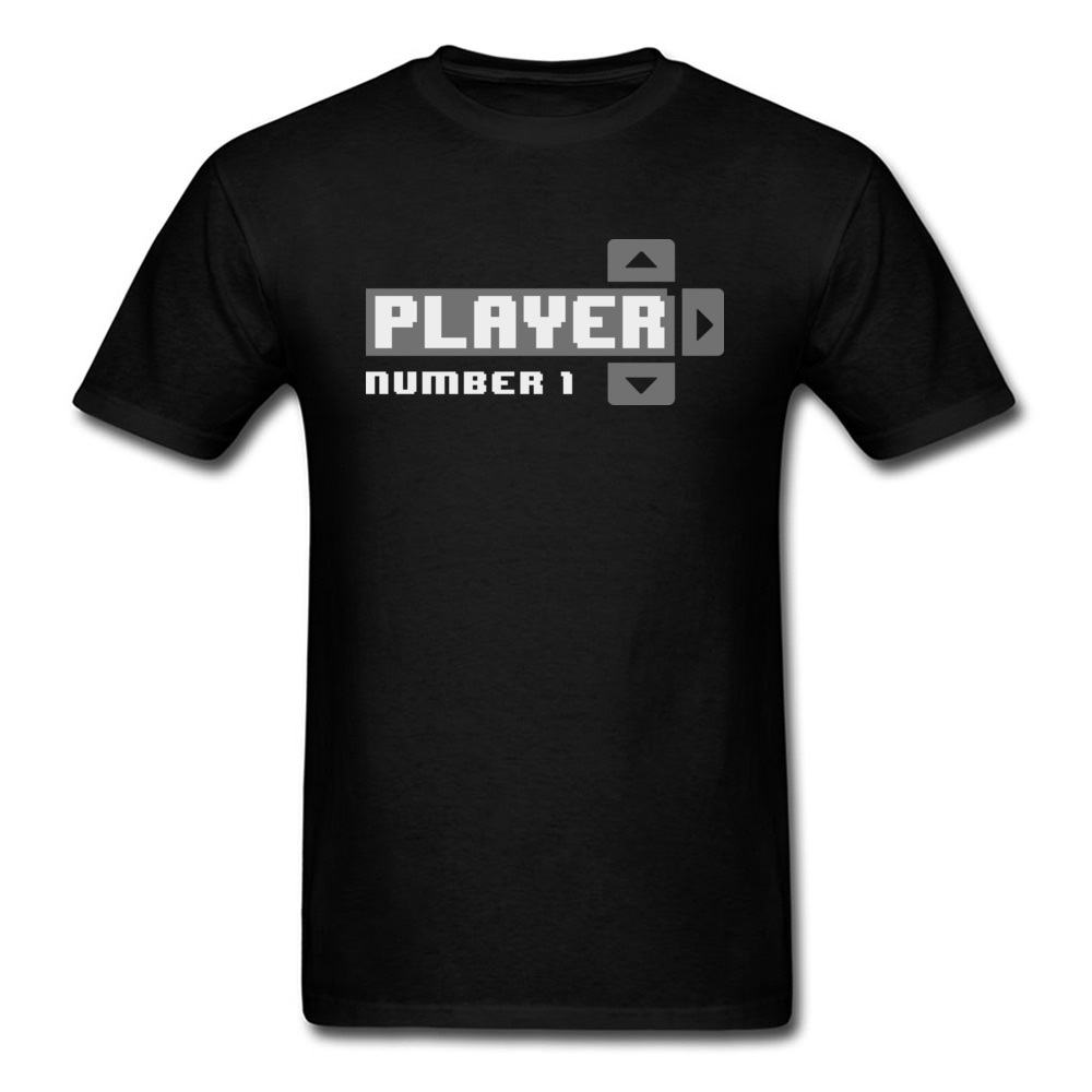 Player Number 1 All Cotton Tops T Shirt for Men Leisure T Shirt 3D Printed Prevailing O-Neck Tops Shirt Short Sleeve Player Number 1 black