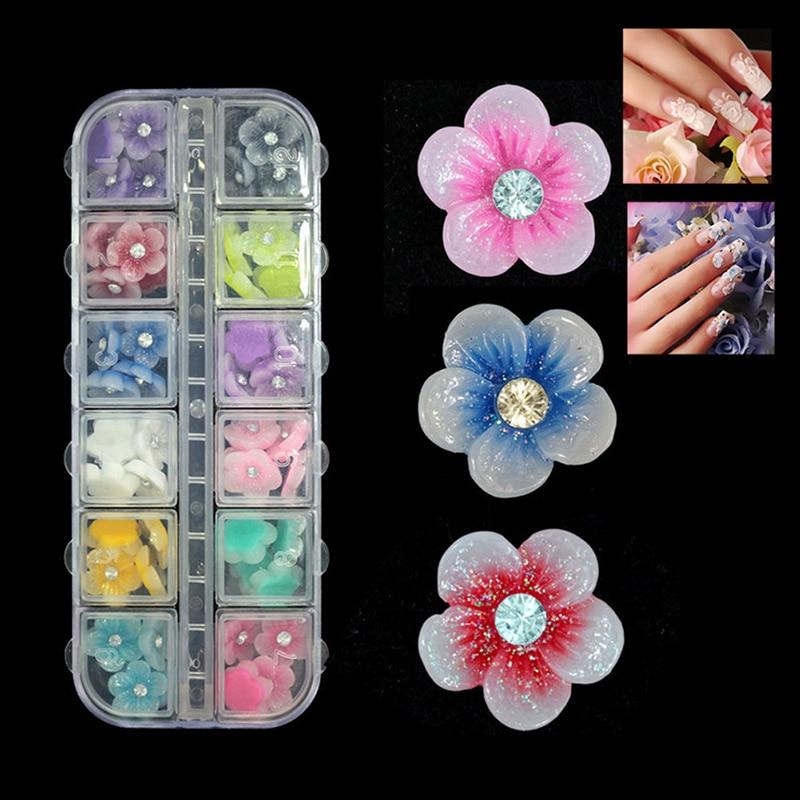 High Quality 3D Polymer Clay Tiny Flowers Nail Art DIY Designs Wheel Set Nail Art Decorations