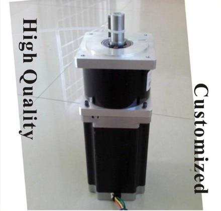 High accuracy NEMA 34 planetary stepper motor 80 mm motor Length NEMA34 Motor step ratio 15 20 25 50 100: 1 5 1 precision version nema34 planetary stepper motor 98mm motor length nema 34 gear stepper