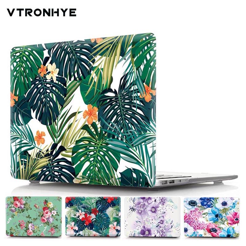 Laptop Case For Apple Macbook Pro 13 15 with Touch bar Air 11.6 13.3 Pro Retina 13.3 15.4 Plant Flower Print Hard Case Coque redlai plant floral print hard case for apple macbook pro retina 13 3 12 15 4 sleeve air 11 13 3 new pro 13 15 a1706 laptop case