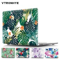 Laptop Case For Apple Macbook Pro 13 15 with Touch bar Air 11.6 13.3 Pro Retina 13.3 15.4 Plant Flower Print Hard Case Coque