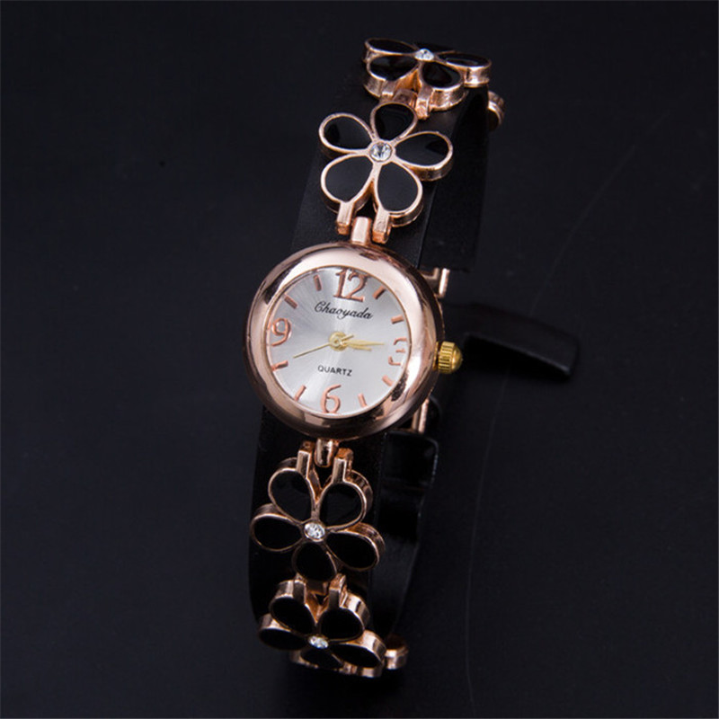 Montre Femme Relojes Mujer 2016 Fashion Clock Hours Ladies Gold Bracelet Dress Quartz Wrist Watch Women Watches Relogio Feminino newly design dress ladies watches women leather analog clock women hour quartz wrist watch montre femme saat erkekler hot sale