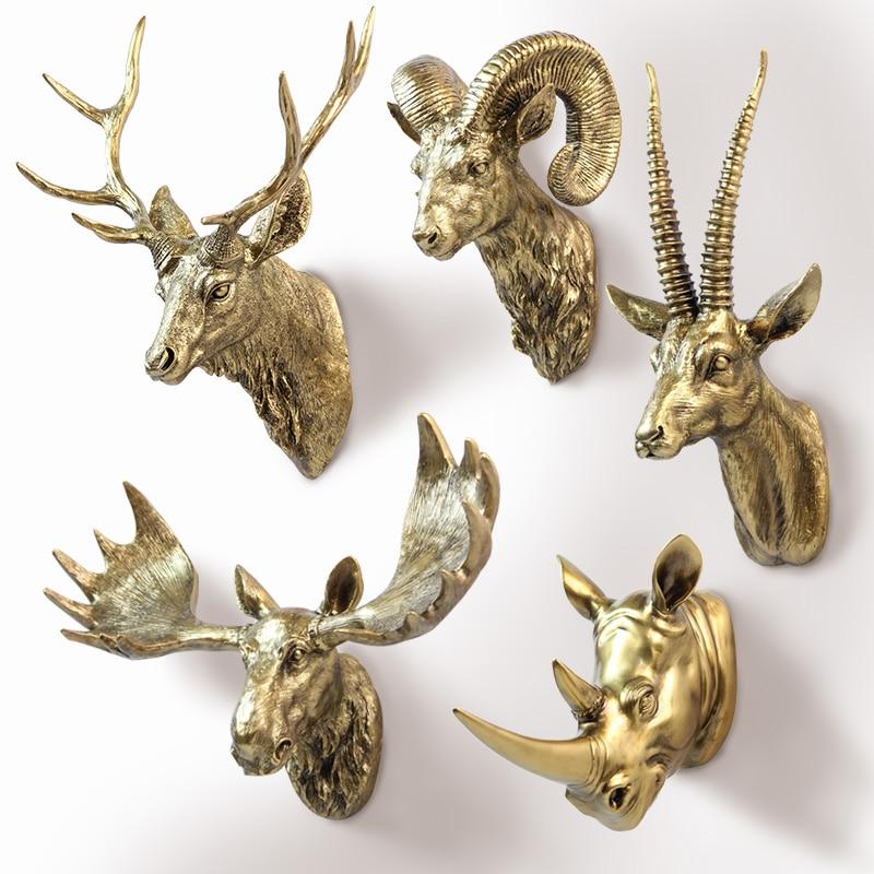 The European and American Animal deer head hanging wall mural pendant ornaments entrance Bar Decor