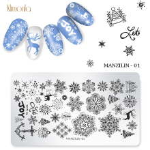 цена на 1pcs Nail Art Christmas Stamping Plates Snowflake Patterns Design DIY Nail Stamp Template Manicure Beauty Tools