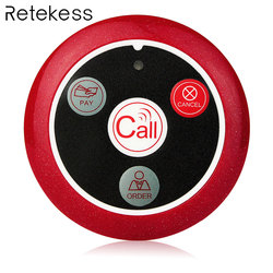 Retekess 433MHz Cercapersone Wireless Pulsante di Chiamata Cercapersone Ristorante Cameriere Sistema di Chiamata Attrezzature Per La Ristorazione Cameriere Servizio F9408A