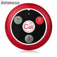Retekess 433MHz Wireless Pager Button Call Pager Restaurant Waiter Calling System Catering Equipment Waiter Service F9408A