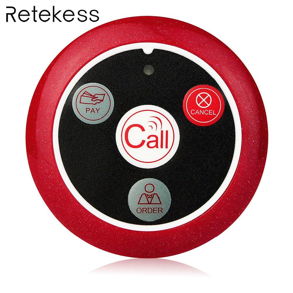 Reticência T117 433 MHz Pager Sem Fio Botão de Chamada Restaurante Garçom Chamando Sistema Pager Quatro-chave Equipamentos de Restauração F9408A