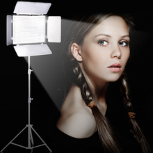 Travor TL-600A BiColor LED Video Light on Camera Light 3200K to 5600K +NP-F550 battery+Charger+remote control as YN-600