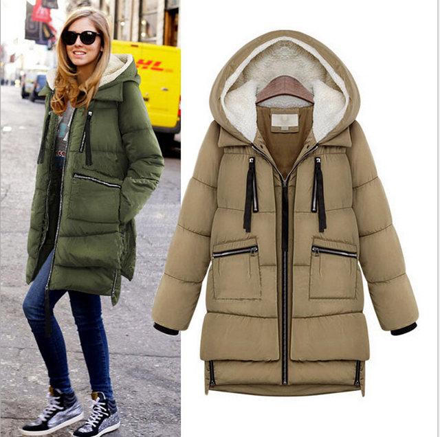 Thickening Cotton Winter Jackets Women 2014 High Quality Brand Women Fashion Street Women Winter Jackets Plus Size Winter Coat