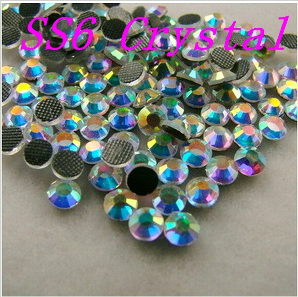 BIg Discount ! Buy 5 Get 6 , Clear white AB Crystal 1440 DMC HotFix FlatBack Rhinestones,DIY garment  gliters crystals stones