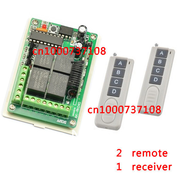 DC12V 4CH RF remote control switch board For Garage Doors /Window / Auto Door Entrance guard door /radio receiver cs3310 remote preamplifier board with vfd display 4 way input hifi preamp remote control digital volume control board