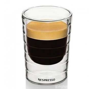 Caneca ręcznie dmuchana podwójna ściana serwatka protein canecas Nespresso kubek kawy espresso filiżanka kawy szkło termiczne 85ml 150ml tanie i dobre opinie kubki do kawy Other Bez elementów CE UE Mugs H-12 Ekologiczne