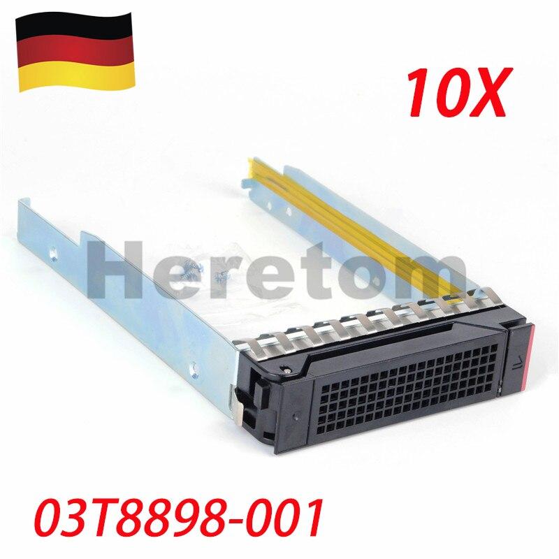 Heretom DE Shipping 10PCS 03T8898-001 3.5 SAS/SATA Drive Caddy Tray For Lenovo RD650 RD550 RD450 RD350 TD450 TD350