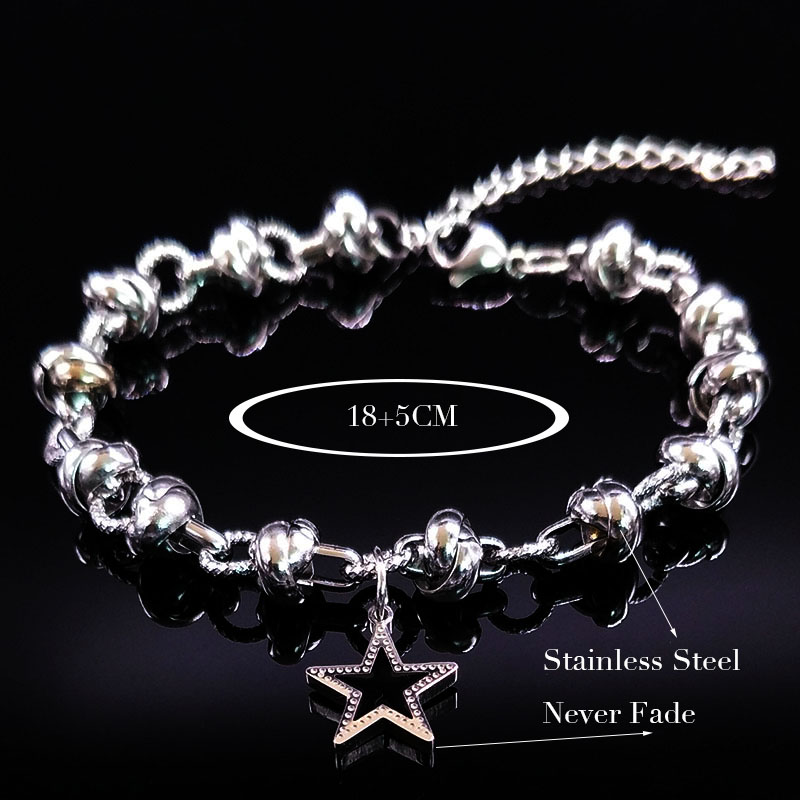 04b9ac93d751 Pulsera Bracelet Mujer Acero Inoxidable Star Love Accesorio Mano ...