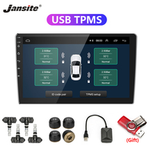 Jansite USB Android TPMS Car Tire Pressure Alarm Monitor System For vehicle player Temperature Warning with four sensors
